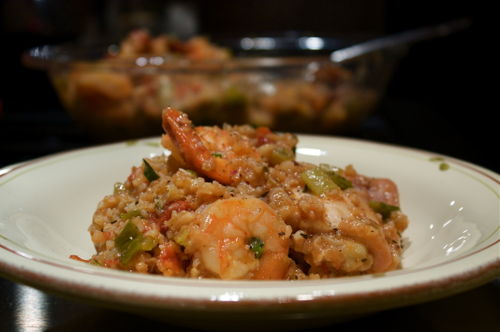 Jambalaya with Andouille Shrimp and Chicken
