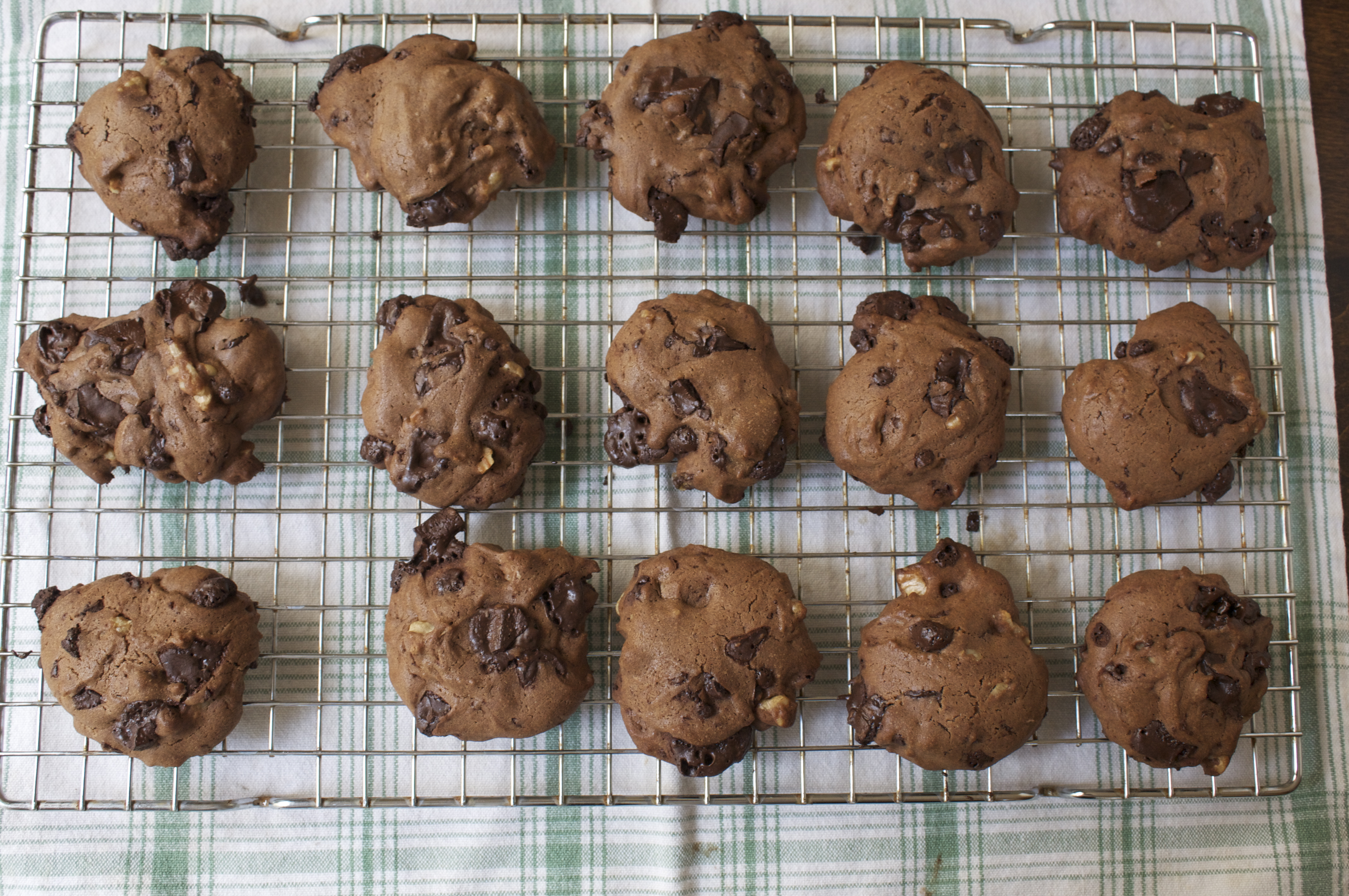 The chocolate chunks can get pretty messy after baking.