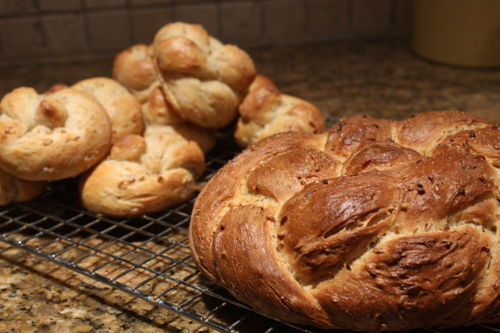 I split the recipe and made rolls and a braided boule.