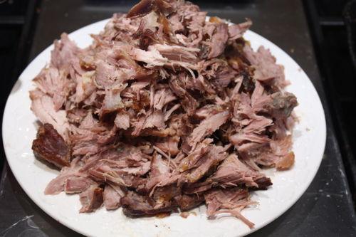 Look at all that nice tender pork.